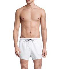 hugo hugo boss men's samoa logo tape swim shorts - white - size xl