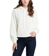 1.state teddy cropped hoodie