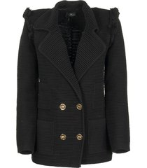 elisabetta franchi celyn b. cotton blazer jacket black