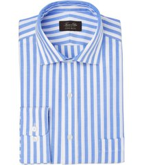 tasso elba men's classic/regular-fit non-iron performance stretch candy stripe supima cotton dress shirt, created for macy's
