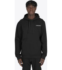 1017 alyx 9sm black hoodie with metal chest logo