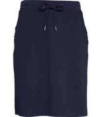 sc-siham jacquard knälång kjol blå soyaconcept