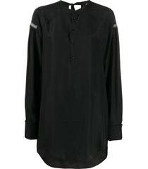 a.f.vandevorst oversized long-sleeve top - black