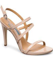 string sandal high sandal med klack beige apair