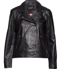 maeve leather jacket ls läderjacka skinnjacka svart soaked in luxury