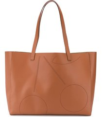 bonpoint perforated cherry tote bag - brown