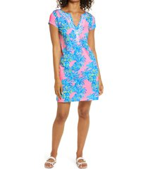 women's lilly pulitzer brewster shift dress, size large - pink