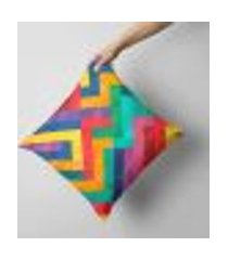 capa de almofada avulsa decorativa geométrico 35x35cm