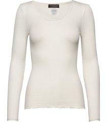 silk t-shirt regular length w/ elas t-shirts & tops long-sleeved wit rosemunde
