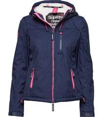 hooded sherpa windtrekker zomerjas dunne jas blauw superdry