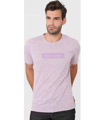 camiseta aleatory lettering lilás