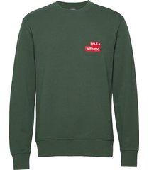 hurl c-neck-ring loop sweat sweat-shirt trui groen j. lindeberg