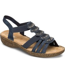 65869-14 shoes summer shoes flat sandals blå rieker