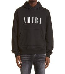amiri men's core logo cotton hoodie, size x-large in black at nordstrom