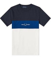 authentieke geborduurd logo blok van de kleur t-shirt