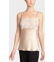 rose parfait camisole with lace, lingerie, women's, 100% silk, size xs, josie natori