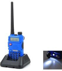 """baofeng uv-bf5r lcd de 1,5"""" de doble banda 5w 128-ch walkie talkie azul (exportación)"""