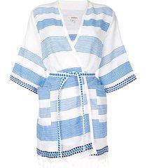lemlem belted wrap beach dress - multicolour