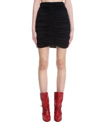 isabel marant doroka skirt in black cotton