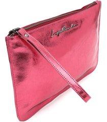 clutch luiza barcelos lisa rosa