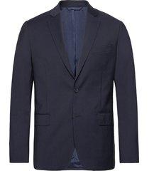 hopper soft comfort wool blazer colbert blauw j. lindeberg