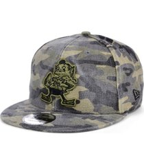 new era men's cleveland browns worn camo 9fifty cap