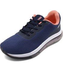 tenis azul navy-blanco-coral beira rio