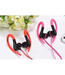 audífonos bluetooth deportivos inalámbricos, nuevos auriculares audifonos bluetooth manos libres  del deporte st-005 auricular estéreo del gancho del oído del receptor de cabeza (rojo)