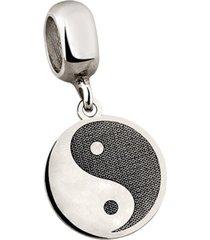 berloque joia em casa yin-yang prata