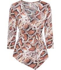 maglia a portafoglio (marrone) - bodyflirt boutique