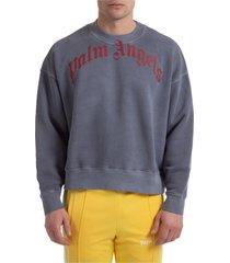 palm angels curved logo sweatshirt