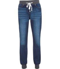 jeans boyfriend con cinta comoda (blu) - bpc bonprix collection