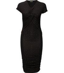 brush dress, orions jurk knielengte zwart stine goya