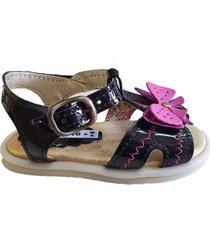sandalia negra ladyskay- linea winpie