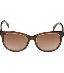 emilio pucci women's 53mm square sunglasses - dark brown