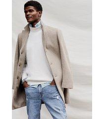 reiss gable - wool-blend epsom overcoat in oatmeal, mens, size xxl