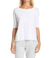 women's frank & eileen tee lab core half sleeve tee, size small - white