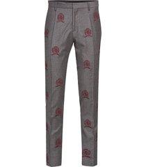 hcm suit sep pants embroidery kostuumbroek formele broek grijs hilfiger collection