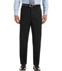 joseph & feiss black wool gabardine dress pants