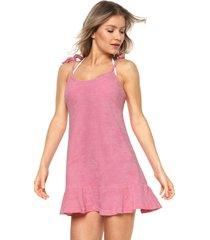 vestido lili sampedro curto atoalhado rosa