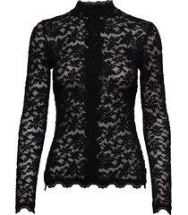 t-shirt ls blouse lange mouwen zwart rosemunde