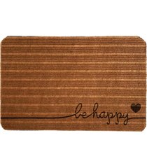 capacho carpet be happy marrom único love decor