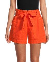 joie women's daynaa paper bag shorts - papaya - size 00
