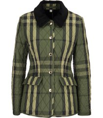 burberry lydd a21 - wool blend quilted jacket with tartan pattern