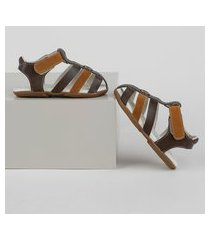 sandália papete infantil pimpolho com velcro marrom