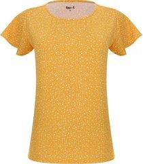 camiseta lluvia floral color amarillo, talla xs