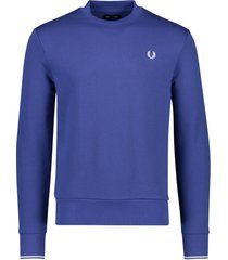 fred perry trui ronde hals blauw