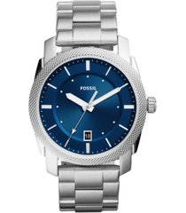 fossil men's machine stainless steel bracelet watch 42mm
