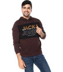 buzo vinotinto-azul jack & jones