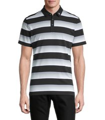 original penguin men's striped short-sleeve polo - caviar - size xxxl